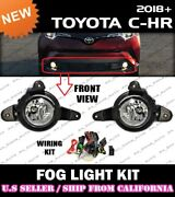 [complete] Fog Light Kit For Toyota 18 19 20 C-hr Chr W/ Switch Wiring Covers
