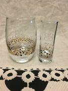 12 Baileys Gold Confetti Glasses Tumblers And 12 Shot Glasses 24 Pieces
