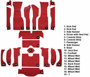 Brand New 1963 Corvette Complete Carpet Kit - Red Loop Foam - Acc - Coupe Only