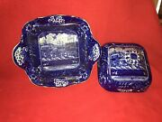 Lb2 Historical Staffordshire Landing Of Lafayette Covered Vegetable Dish Ca 1825