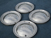 Mercedes Benz Smooth Stainless Steel Hubcaps 1970 1989 78 82 85 Wheel Covers Set