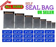 Grey Mailing Bags Strong Poly Postal Post Postage Mail Self Seal All Sizes Cheap