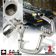 Stainless Steel Full Length Exhaust Header Manifold For 84-85 Regal 3.8 V6 Turbo
