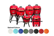 Ynni Kamado Sizes 13 To 25.2 13 Colours With Chip Feeder Option Ceramic Bbq