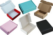 Pink Black Blue Red White Brown Cardboard Boxes Shipping Mailing Storage Gift