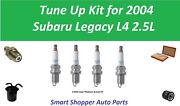 Spark Plug, Fuel Filter, Oil Air Filter To Tune Up For 2004 Subaru Legacy 2.5l