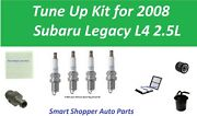 Tune Up Kit For 2008 Subaru Legacy L4 Cabin Air Filter, Oil Filter, Pcv Spark Pl