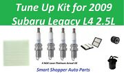 Cabin Air Filter, Oil Filter, Spark Plug To Tune Up For 2009 Subaru Legacy L4
