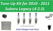 Tune Up For 2010 2011 Subaru Legacy L4 2.5l Cabin Air Filter, Oil Filter, Spark