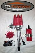 Small Cap Amc Jeep 290,304,343,360,390,401 Red Hei Distributor And 45k Round Coil