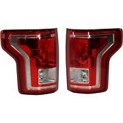 Halogen Tail Light For 2015-2017 Ford F-150 Set Of 2 Lh And Rh