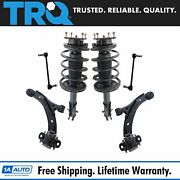 Trq 6 Piece Suspension Kit Complete Struts Control Arms Sway Bar End Links New