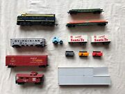 1970's Vintage Tyco Sante Fe Train Set, Cars, And Track