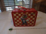 Wii Dominoand039s Pizza Mario Lunchbox Metal Nintendo Red Blocks Lunch Meal Box