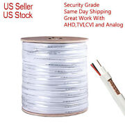 Rg59 Siamese Cable 250ft 500ft 1000ft 20awg + 18/2 Security Camera Cctv