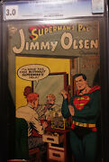 1954 Dc Supermanand039s Pal Jimmy Olsen 1 Cgc 3.0 Cream To Off White Pages