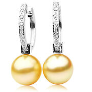 New Genuine Pacific Pearls® South Sea 13mm Golden Pearl Earrings Thank You Gifts