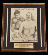 Gerry Cooney And Chuck Wepner Great White Hopes Signed Print By Both Boxers Coa