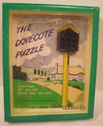 Old Dexterity Puzzle By R Journet - Dovecote - Doves Fly Into Birdhouse