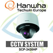 Samsung Scp-3430hp 43x Zoom 600tvl Wdr Ptz Cctv Dome Camera With In-built Heater