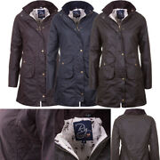 Rydale 3/4 Hannah Diamond Quilted Ladies Coat Waxed Cotton Jacket Uk Made