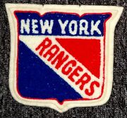 Vintage Ny Rangers Hockey Chenille And Felt 5.5 X 6 Inch Nhl Patch/crest