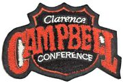 Vintage Clarence Campbell Conference Chenille And Felt 3.5 X 5 Inch Nhl Patch