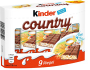 10 X Box Kinder Country - 90 Pieces - German Candy Sweets Chocolate Bar