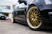 """4x Genuine Simmons 20"""" '21 Gold Om-1 Vf Ve Staggered Lip Wheels New Tyres Vz Vy"""