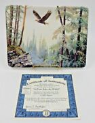 An Eagle Rules The Heights Signed And Numbered Bradford Exchange Plate 9908a
