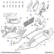 Polaris Wing Front Lower Genuine Oem Part 5454386 Qty 1
