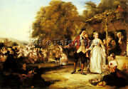 Frith William Powell May Day Celebration Artist Painting Oil Canvas Repro Art