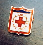 Rare Antique American Junior Red Cross Pin From 1920s In Excellent Condition