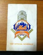 1986 Mets World Champs - 1987 Official Schedule