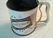 Vintage Androck Collectible Metal Flour Sifter W/ Original Price Tag Made In Usa