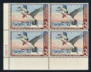 United States Rw29 Mint F-vf Nh 3 Plate Blk.4 Pintails