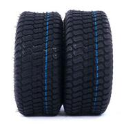 Two P332 15x6.00-6 Turf Tires Lawn Mower Tractor 4 Ply Warranty Tubeless Tires