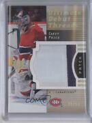 2007-08 Ultimate Collection Debut Threads /50 Carey Price Dt-cp Rookie Patch