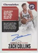 2017-18 Panini Chronicles Pink /25 Zach Collins Ca-zcl Rookie Auto