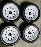 4 Amerityre 18x8.50-12 Solid Rubber Tire Turf Golf Cart Tire And Wheel Assembly