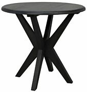 23 Set Of Two Side Table Night Stand Sungkai Wood Black Finish 8682