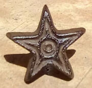12 Star Cast Iron Cabinet Knobs Drawer Pulls Texas Western Primitive Rustic
