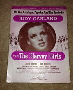 Vintage 1942 Frameable Judy Garland Sheet Music Cover From The Harvey Girls