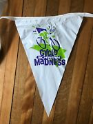 Vintage Schwinn Cycle Madness Pennant Flag Sign Banner 24 Flags Long