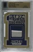 2010 Famous Fabrics First Edition Overall Gold 1/1 Ed Too Tall Jones