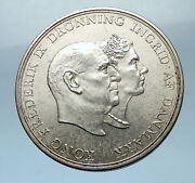 1960 Denmark King Frederick Ix And Queen Ingrid Silver Wedding Anniver Coin I68530