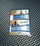 2004-05 Sp Game Used Jamal Crawford Eddy Curry Auto Extra Significance Gold 4/5