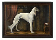 Original Classical Style Dog Oil Painting The Saluki By Terry Waldron Signed