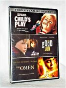 Little Terrors Triple Feature Childs Play / The Good Son / The Omen Dvd, 2008