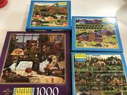 Charles Wysocki  Lot 4 Collectable 1000 Piece Puzzle New